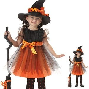 Halloween costumes children dress up as witches